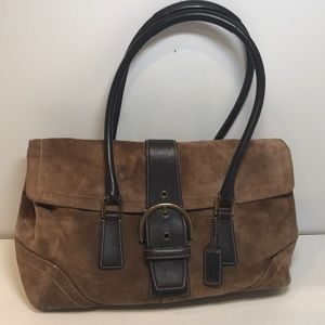 Coach Suede and Leather Handbag