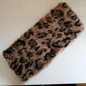 ZARA Leopard Print Fur Infinity Scarf