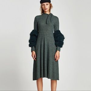 NWT Zara Dress w Bow at the Neck - in store now!
