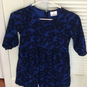 Hanna Andersson girls dress blue corduroy