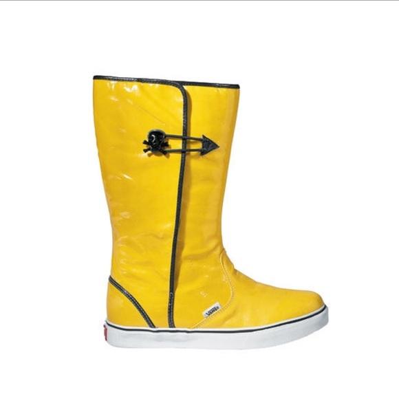 Amazing Vans Dasan Yellow Rainboots W Skulls Vans Rain Boots Shoes