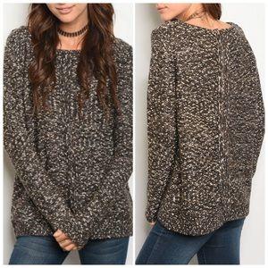 Cream Brown Sweater