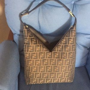 Fendi shoulder bag handbag zucca tote 👜