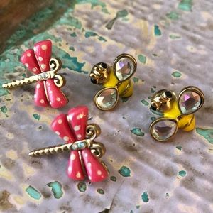 Betsey Johnson bug earrings