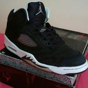 Nike Air Jordan 5 Retro Oreo Blk Wht Size 11.5