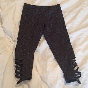 Speckled gray Capri leggings