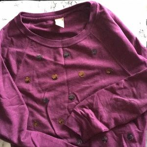 Sweaters - Purple Sequin Polka Dot Sweater