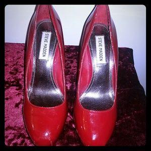 Steve Madden Red Platform Heels.