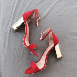 Madden girl red heels size 8.5