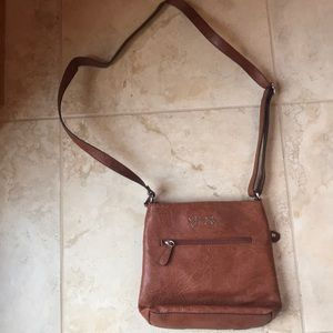 Jessica Simpson brown leather purse
