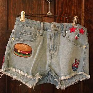 Mossimo denim America high rise shorts