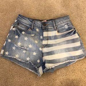 Pants - American Flag High Waist Shorts