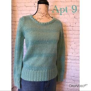  Apt 9 light teal sweater, size M