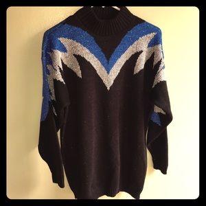 Vintage 1980s Shiny Thread Sweater