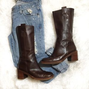 {Banana Republic} Brown Leather Knee High Boots