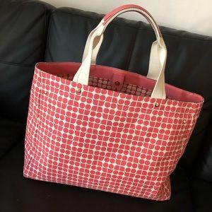 HUGE Kate Spade Canvas Tote Bag Red
