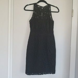 J. Crew black lace sheath dress