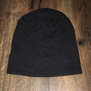 Black fitted winter hat