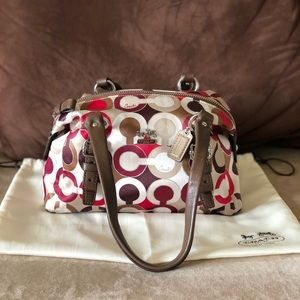 COACH Madison Graphic Op Art Small Satchel/Bag