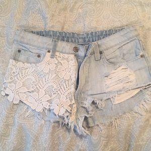 Carmar Lace Jean Shorts