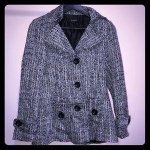 Black & white trench coat