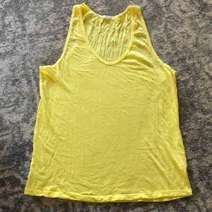 J. Crew yellow 100% cotton tank size M