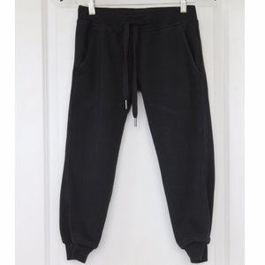 ADIDAS Stella McCartney Black Cropped Sweatpants