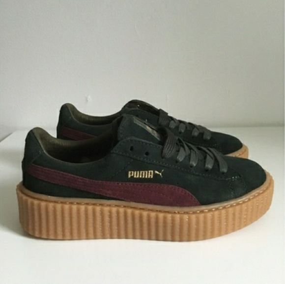 online store 17876 35687 Fenty Puma Creepers Green Size 9