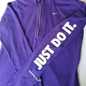 NIKE DRI-FIT Running Half Zip Pullover Size S