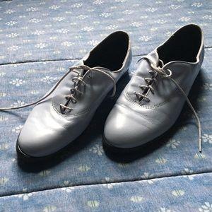 Vintage Baby Blue Lace-up Shoes