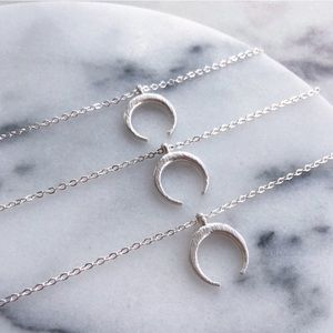 🛍COMING SOON🛍 Petite Silver Crescent Necklace