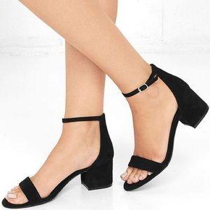 Steve Madden black sandal heels size 9
