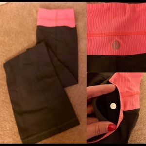 Lululemon Gray and Pink Pants Size 4