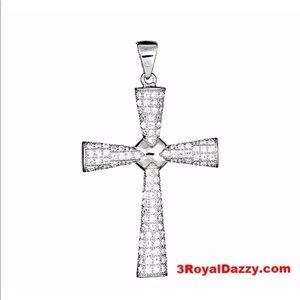 18k layered on .925 Christian Cross pendent