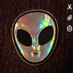 Iron on alien patch