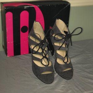 Never worn Michael Antonio Grey tie up shoes