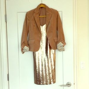 Jcrew gold sequin dress