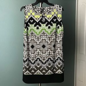 Alfani sleeveless tunic, like new petite large