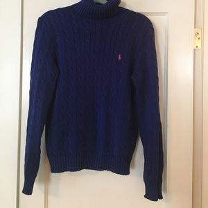 Ralph Lauren cable knit sweater.
