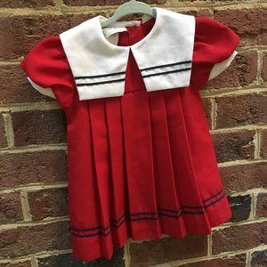 Girls vintage red 2T dress