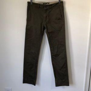 Zara Khaki Green Trousers