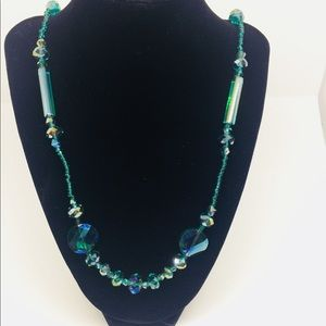 Green Beaded Necklace.