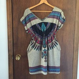 Super cute Boho sweater dress/top