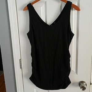 Maternity tank with side roush detail
