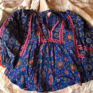 Tolani blue silk shirt