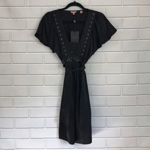 NWT TED BAKER LONDON SILK SEQUIN BELTED DRESS