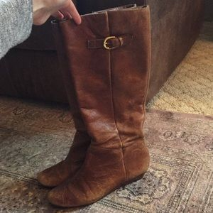 """Steve Madden """"Intyce"""" cognac leather riding boots"""
