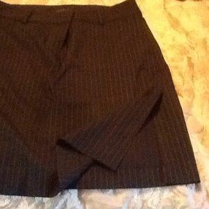 Theory navy blue pin stripe skirt