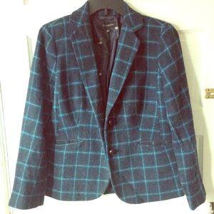 Talbots wool plaid blazer