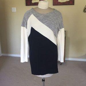 Geometric design sweater dress